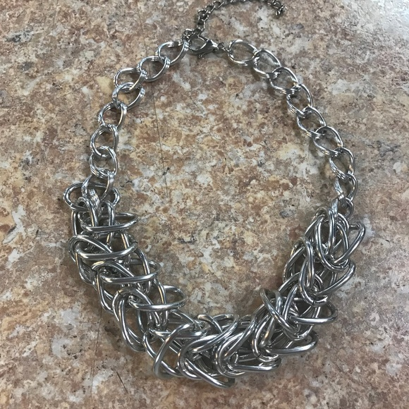 Jewelry - Chunky Chain Hip Hop Silver-Tone Necklace